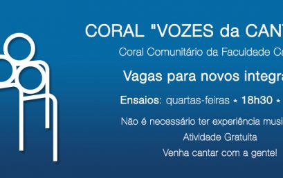 Coral Vozes da Cantareira – Vagas para novos integrantes