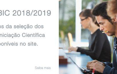 PIBIC – 2018/2019