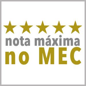 Faculdade NOTA MÁXIMA no MEC