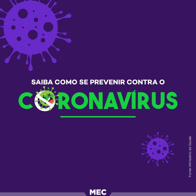 Recomendações gerais de prevenção ao novo Coronavírus (COVID19)